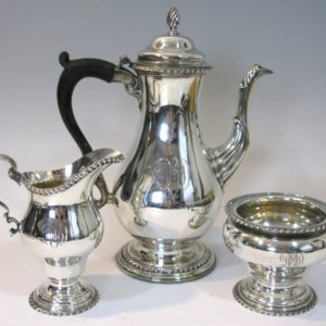 Three-piece Sterling Silver Coffee Service